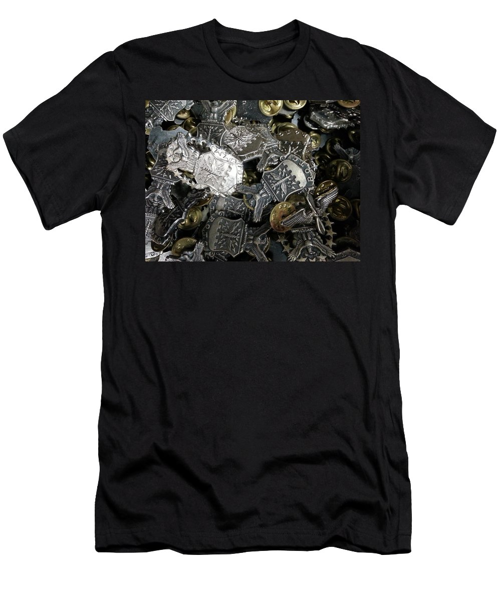 Rotc Men's T-Shirt (Athletic Fit) featuring the photograph More Than Just Pot Metal by Caryl J Bohn