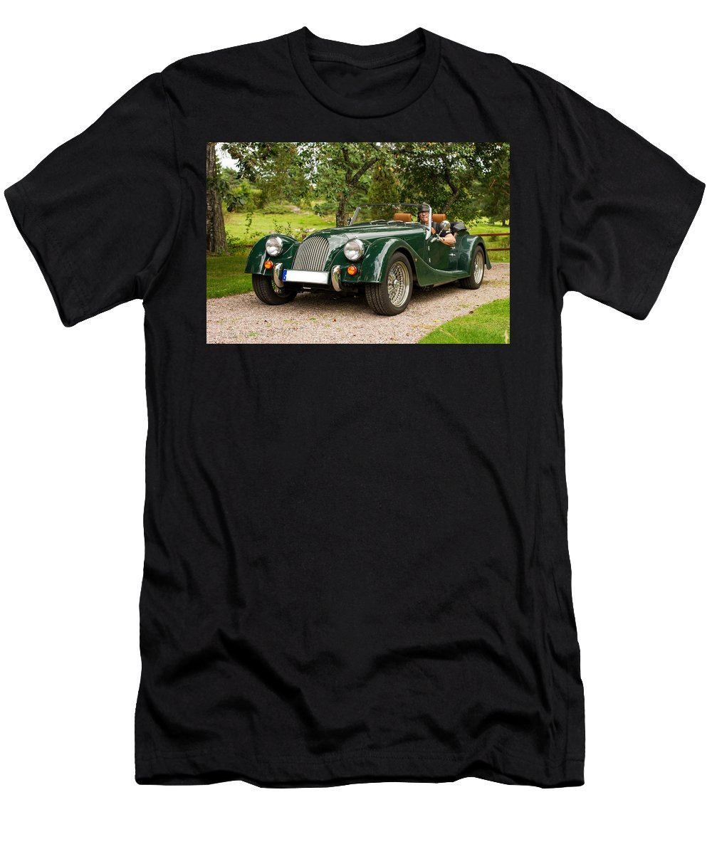 Morgan Roadster Men's T-Shirt (Athletic Fit) featuring the photograph Morgan Roadster by Torbjorn Swenelius