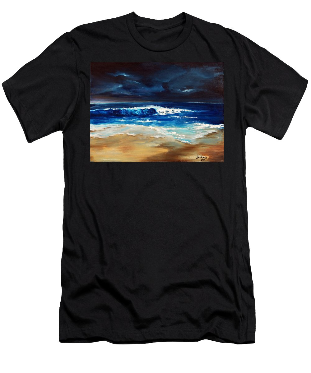 Ocean Men's T-Shirt (Athletic Fit) featuring the painting Morning Breakthrough II by Jennifer Hickman
