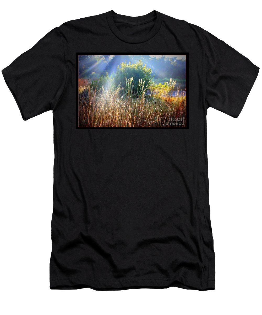 Sunrise Men's T-Shirt (Athletic Fit) featuring the photograph Morning Glory by Carol Groenen