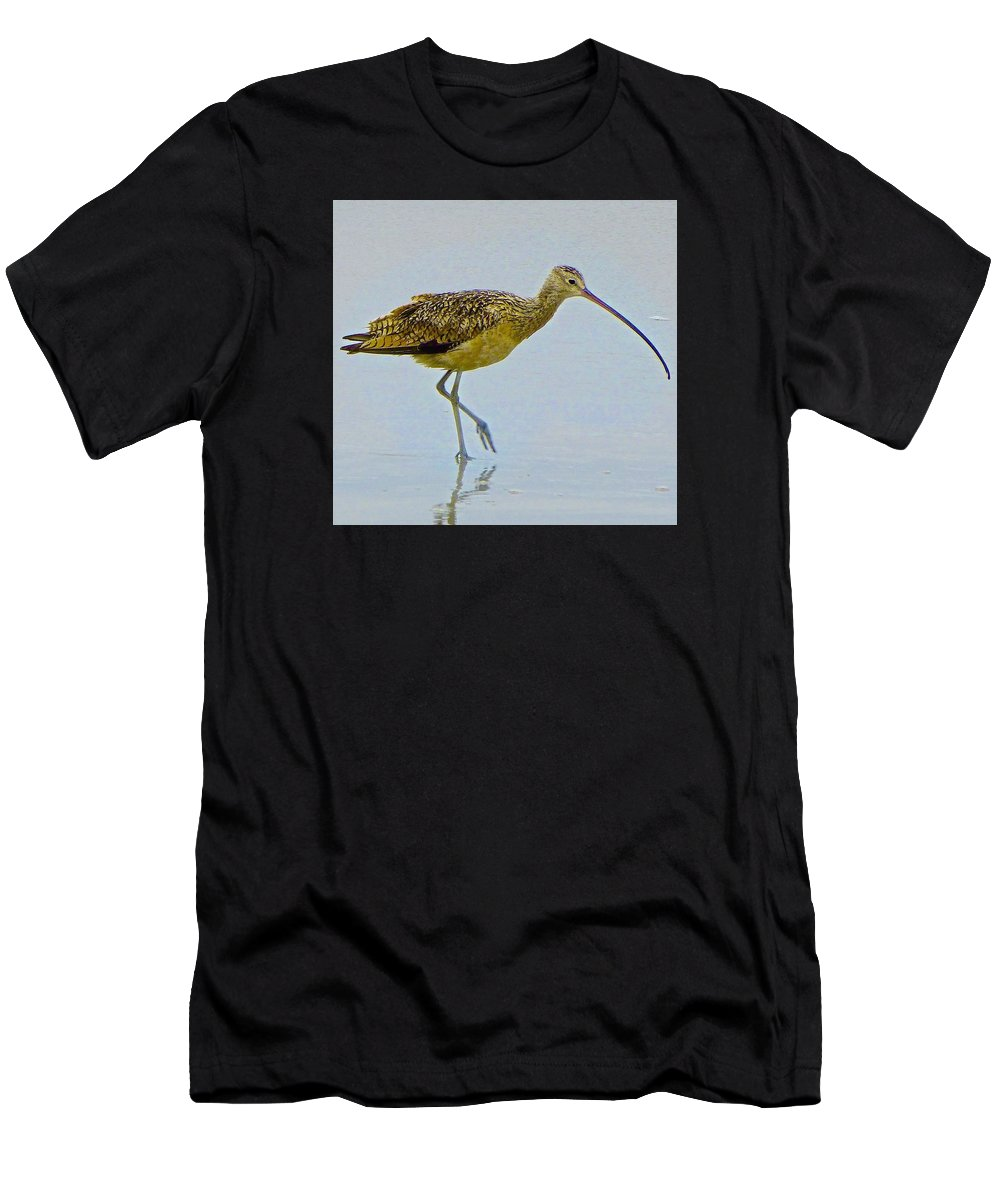 Bird Men's T-Shirt (Athletic Fit) featuring the photograph Morning Walk by Barbara Zahno