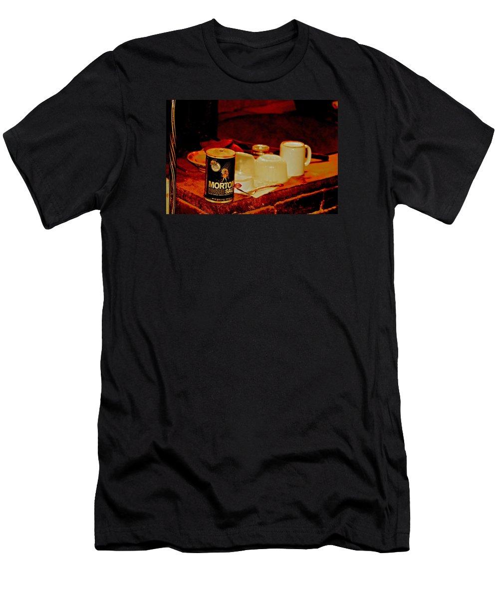Morton Salt Men's T-Shirt (Athletic Fit) featuring the digital art Morton Salt Born 1952 by Joseph Coulombe