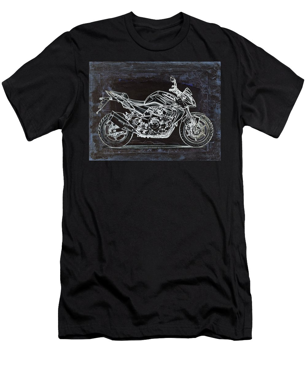 Moto Men's T-Shirt (Athletic Fit) featuring the digital art Moto Art 41 by Variance Collections