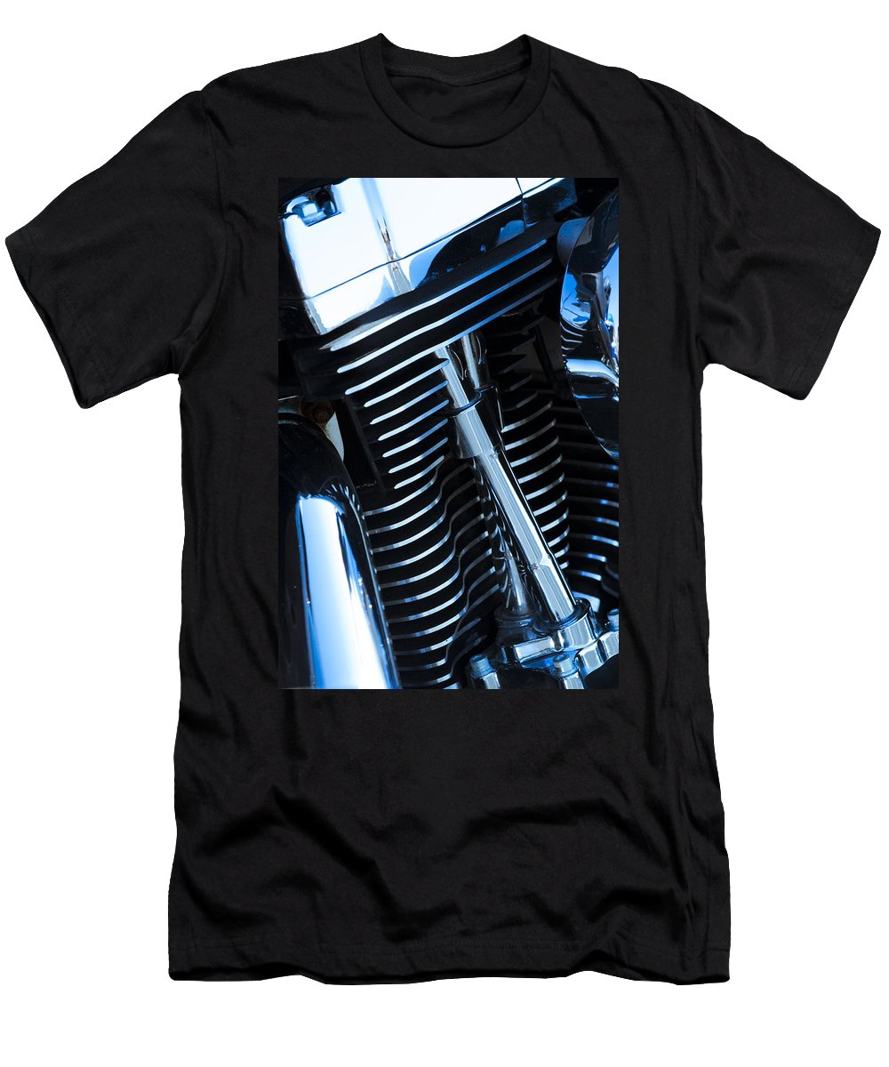Motorcycle Men's T-Shirt (Athletic Fit) featuring the photograph Motorcycle Engine by Alexey Stiop