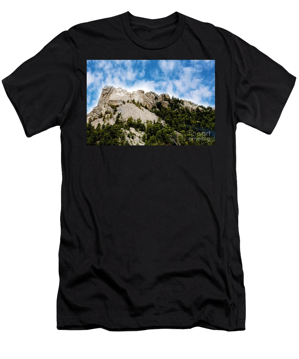 Mt. Rushmore Men's T-Shirt (Athletic Fit) featuring the photograph Mount Rushmore by Erika Weber