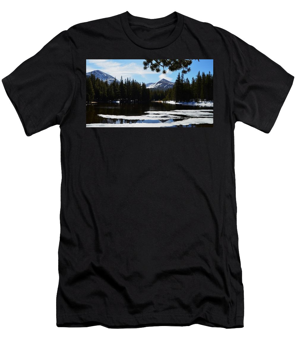 Yosemite Men's T-Shirt (Athletic Fit) featuring the photograph Mountain Peak by See My Photos