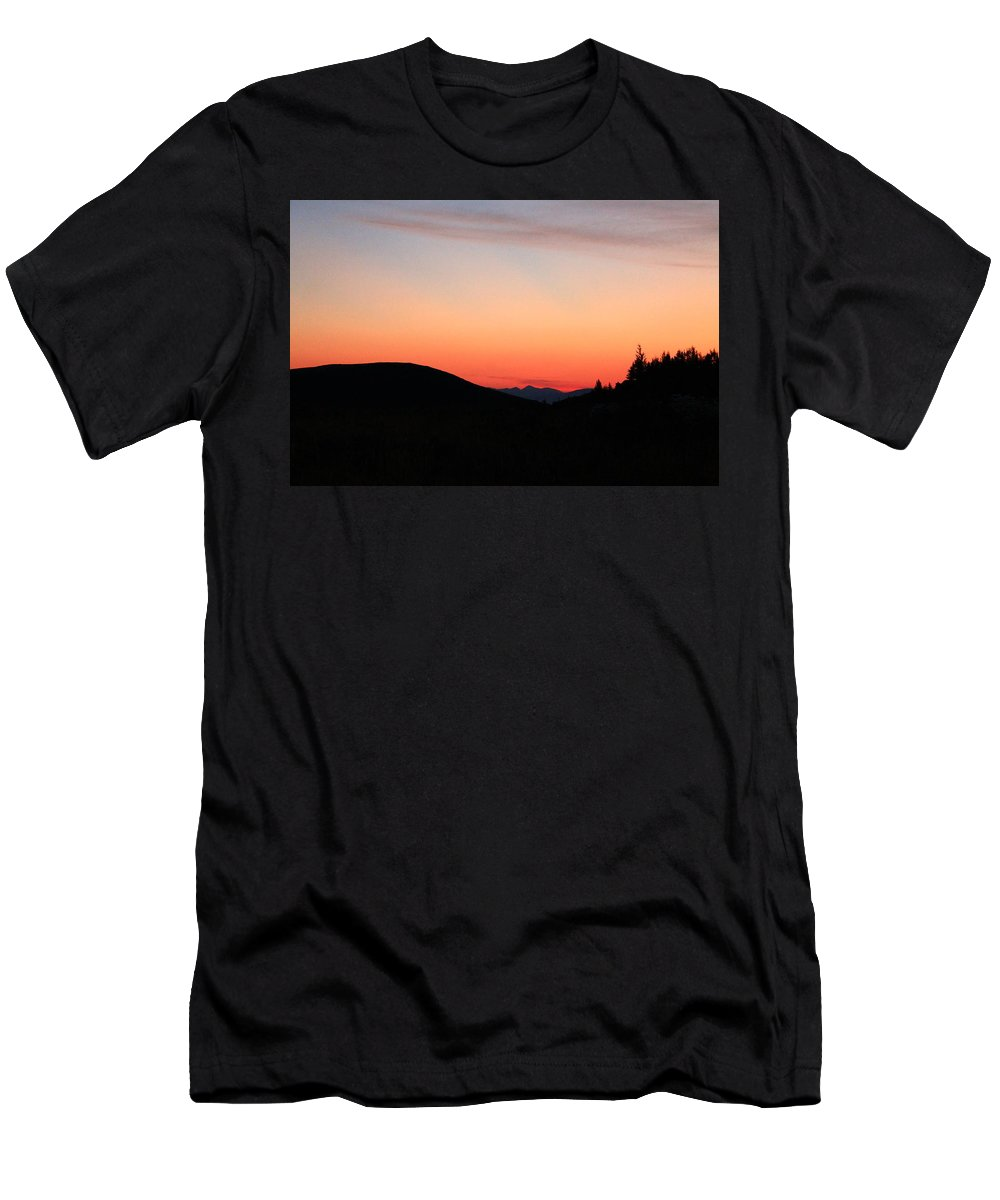 Jackson Hole Men's T-Shirt (Athletic Fit) featuring the photograph Mountain Sunrise by Catie Canetti