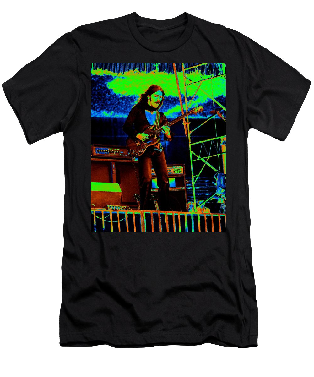 Frank Marino Men's T-Shirt (Athletic Fit) featuring the photograph Mrdog #87 In Cosmicolors 1 by Ben Upham III