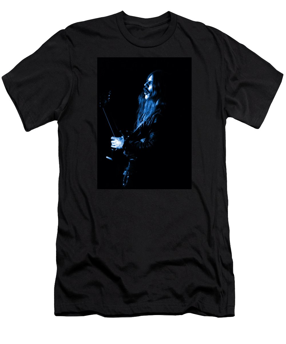 Mahogany Rush Men's T-Shirt (Athletic Fit) featuring the photograph Mrush #12 In Blue by Ben Upham