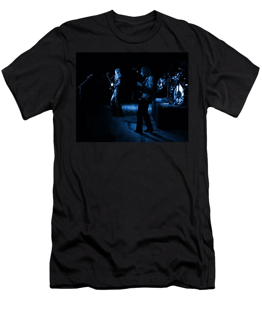Mahogany Rush Men's T-Shirt (Athletic Fit) featuring the photograph Mrush #9 In Blue by Ben Upham