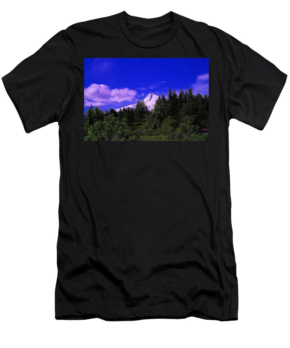 Mountains Men's T-Shirt (Athletic Fit) featuring the photograph Mt Hood by Jeff Swan