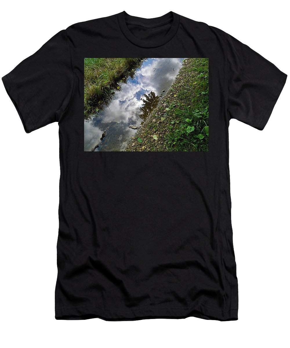 Mudhole Men's T-Shirt (Athletic Fit) featuring the photograph Mudhole Mirror 2 by Nick Kirby