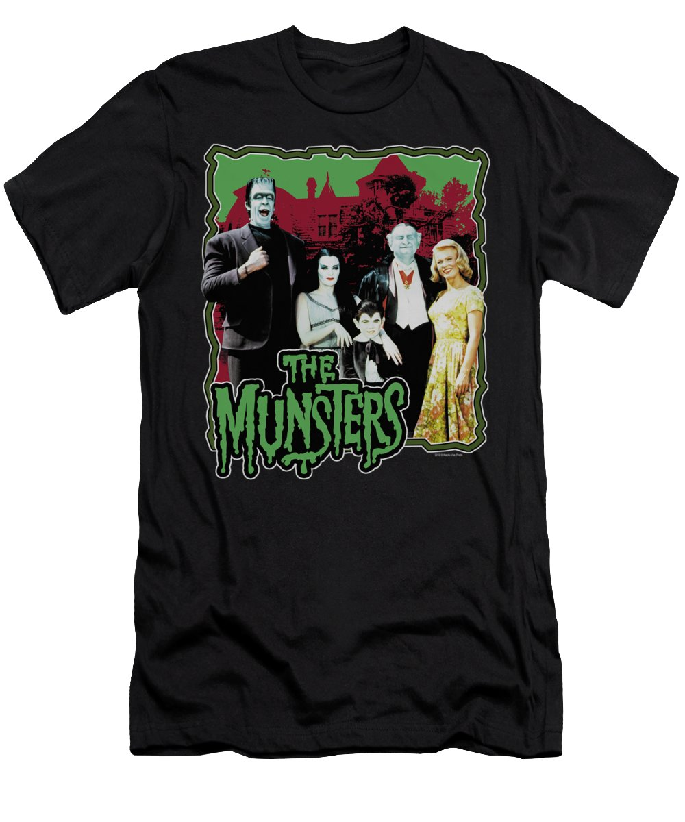 Munsters T-Shirt featuring the digital art Munsters - Normal Family by Brand A