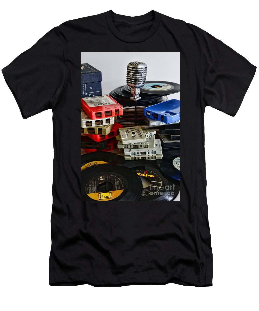 Paul Ward Men's T-Shirt (Athletic Fit) featuring the photograph Music Memories by Paul Ward