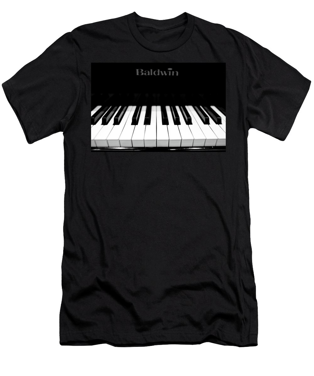 Music Men's T-Shirt (Athletic Fit) featuring the photograph Music by Sebastian Musial