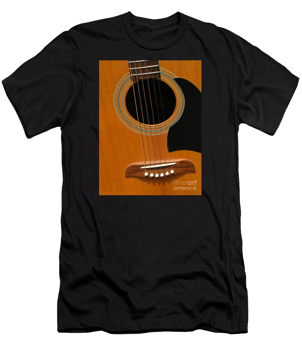 Guitar Men's T-Shirt (Athletic Fit) featuring the photograph Musical Abstraction by Ann Horn