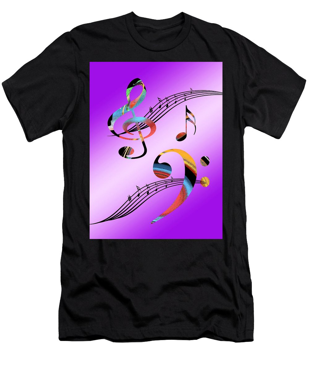 Music Men's T-Shirt (Athletic Fit) featuring the digital art Musical Illusion by Gill Billington