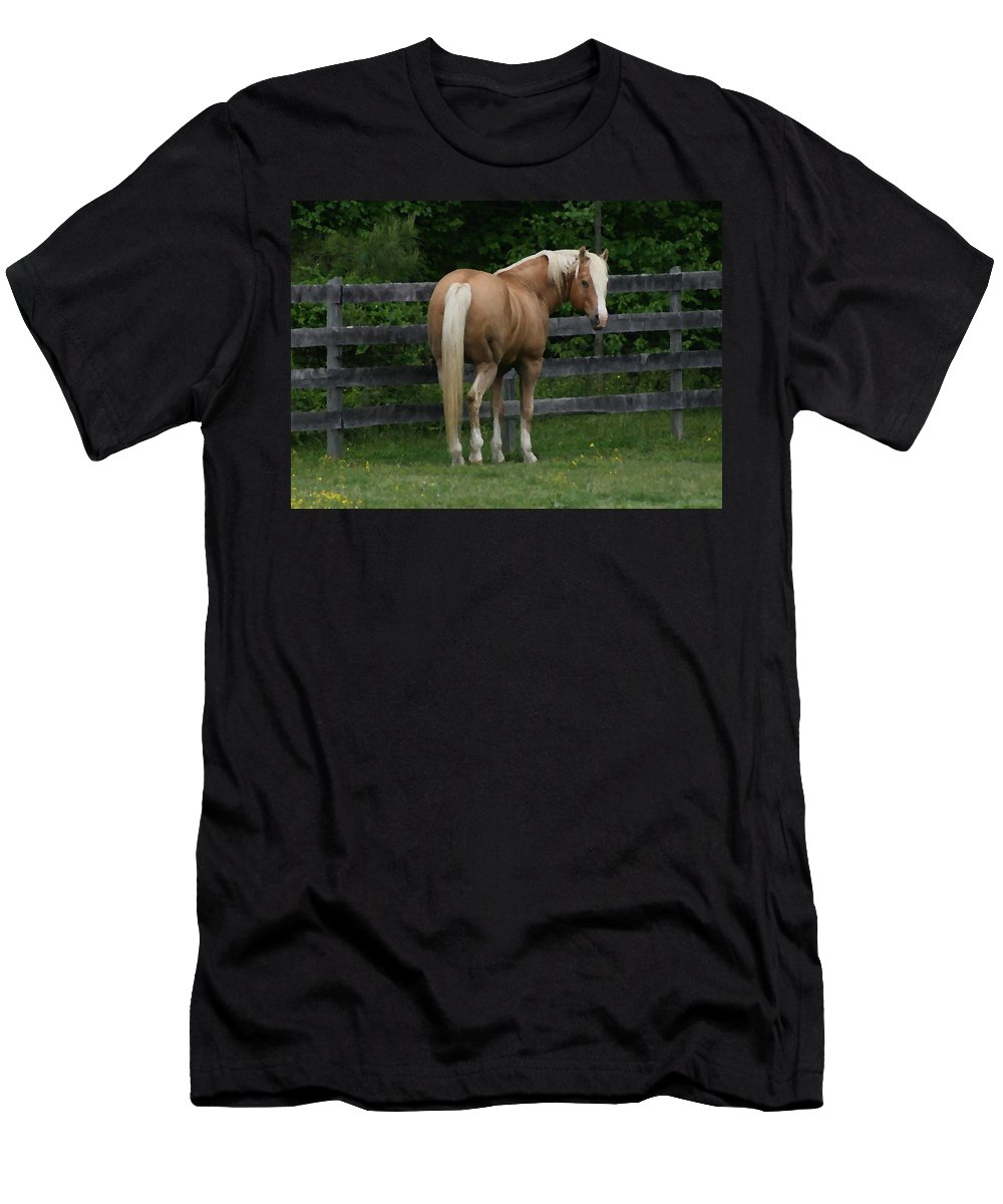 Horse Men's T-Shirt (Athletic Fit) featuring the digital art My Dream Horse by Tina Meador