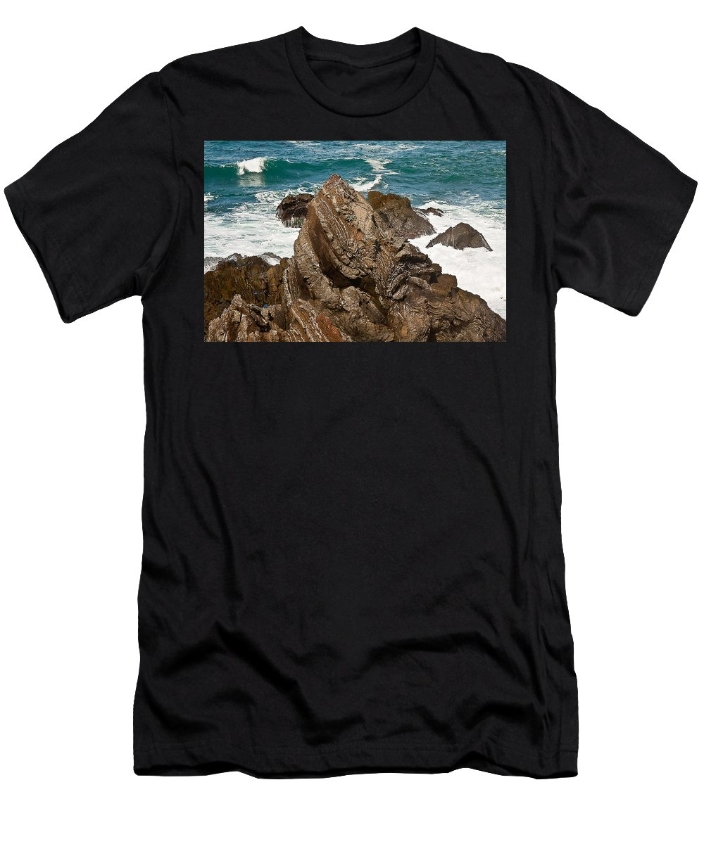 Rocks Men's T-Shirt (Athletic Fit) featuring the photograph My Favorite Rock. by Brian Williamson