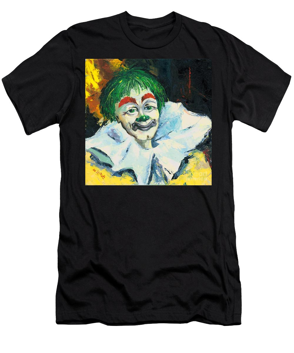 Canvas Prints Men's T-Shirt (Athletic Fit) featuring the painting My Friend by Elisabeta Hermann