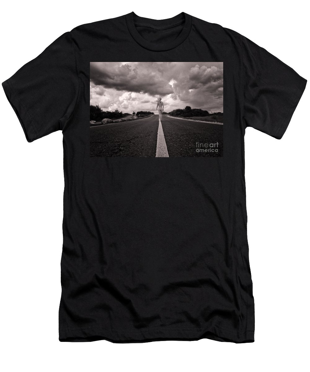 Adult Men's T-Shirt (Athletic Fit) featuring the photograph My Own Destiny by Stelios Kleanthous