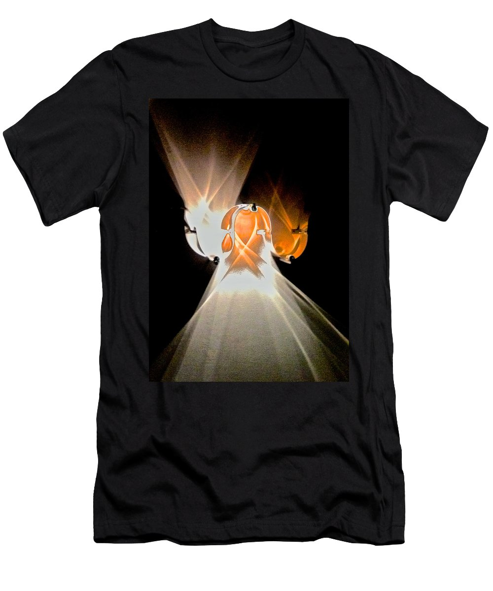 Abstract Men's T-Shirt (Athletic Fit) featuring the photograph Kinetic Mysteries by Venetia Featherstone-Witty