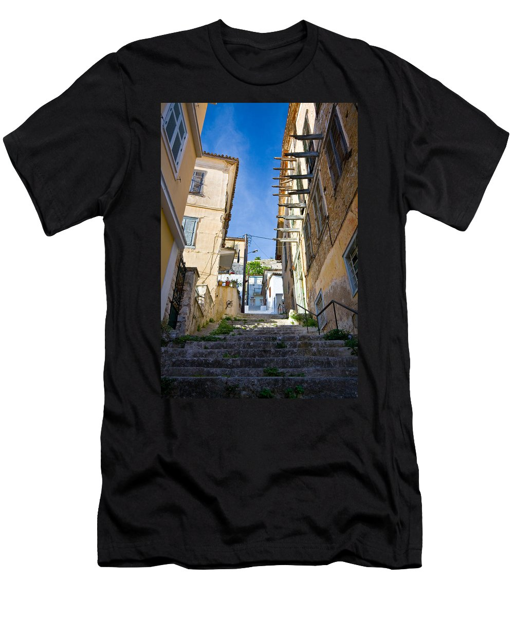 Greece Men's T-Shirt (Athletic Fit) featuring the photograph Nafplio by Milan Gonda
