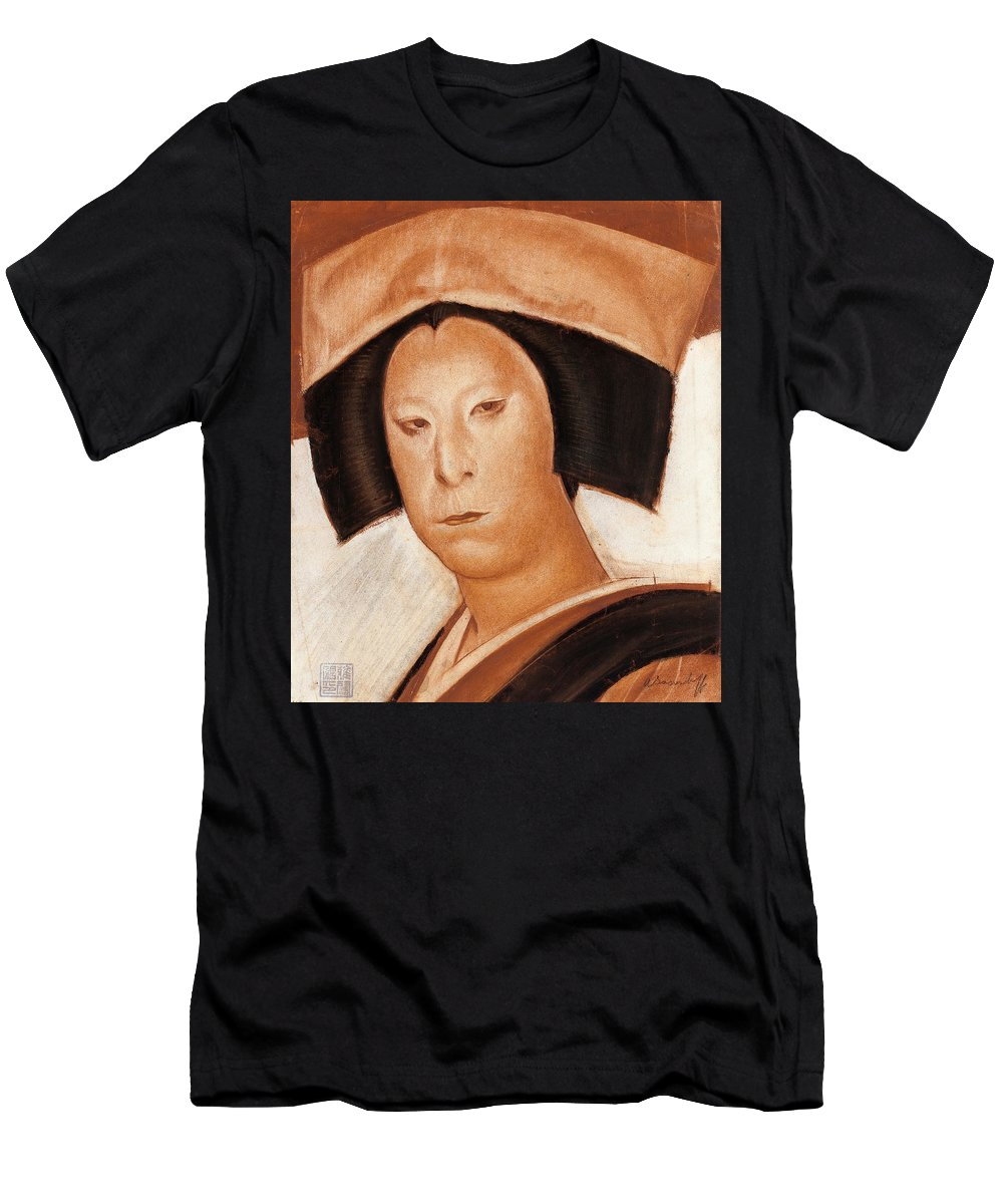 Alexander Evgenievich Yakovlev Men's T-Shirt (Athletic Fit) featuring the painting Nakamura Utaemon V by Alexander Evgenievich Yakovlev