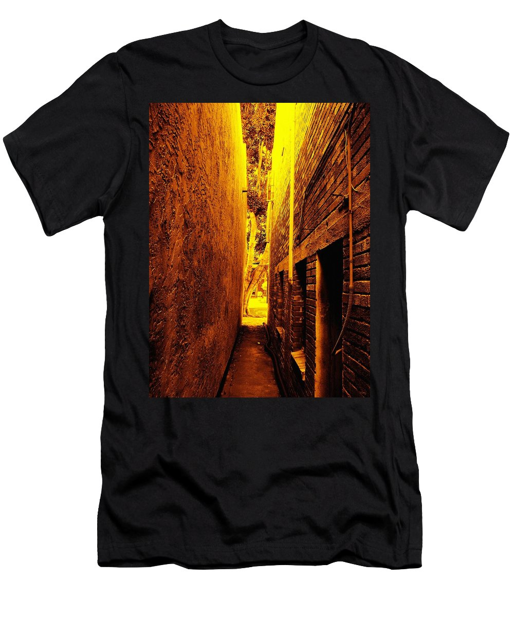 Narrow Walkway Men's T-Shirt (Athletic Fit) featuring the photograph Narrow Way To The Light by Glenn McCarthy Art and Photography
