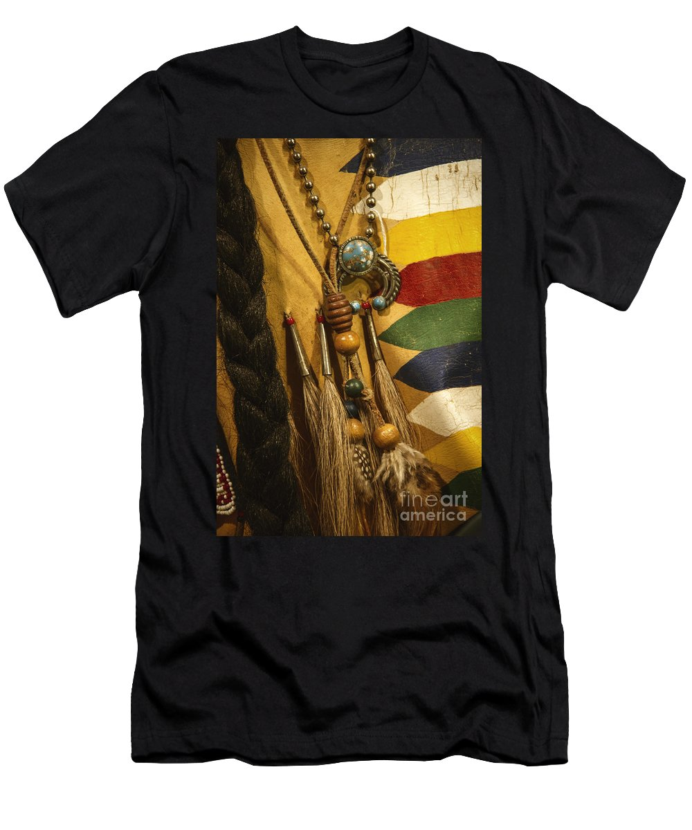 Indian Men's T-Shirt (Athletic Fit) featuring the photograph Native by Margie Hurwich