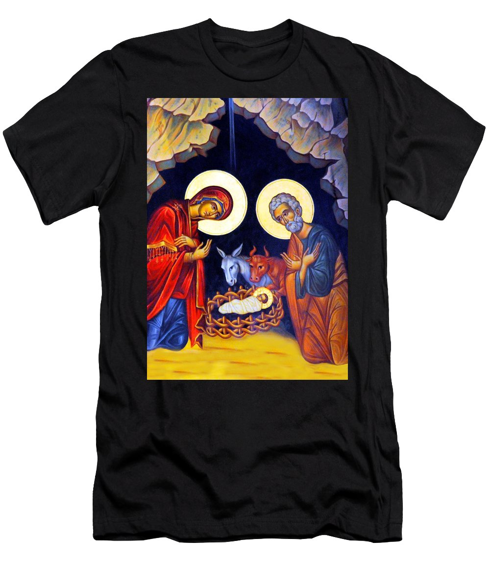 Jesus Men's T-Shirt (Athletic Fit) featuring the photograph Nativity Feast by Munir Alawi