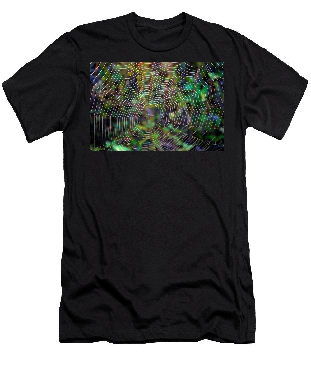 Abstract Men's T-Shirt (Athletic Fit) featuring the photograph Natural Stained Glass by Bonfire Photography