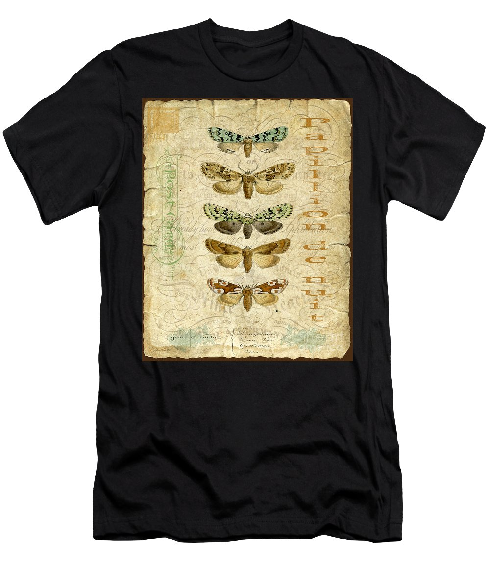 Butterfly Men's T-Shirt (Athletic Fit) featuring the digital art Nature Study-no.3 by Jean Plout