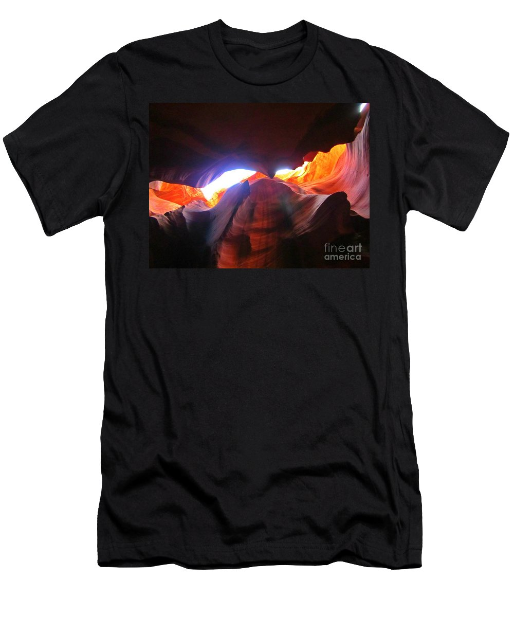 Natures Flare For Art Men's T-Shirt (Athletic Fit) featuring the photograph Natures Flare For Art by John Malone