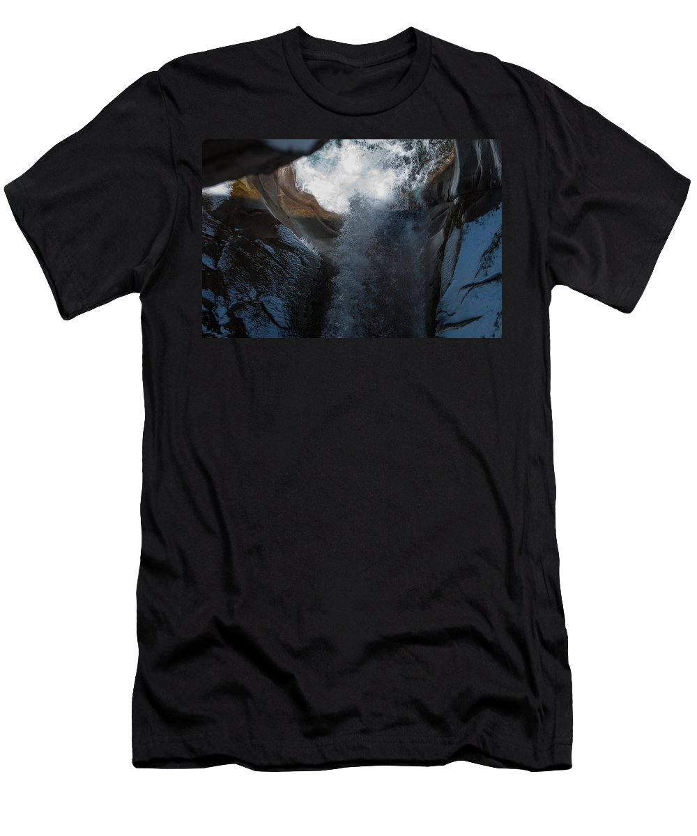 Christine Falls Men's T-Shirt (Athletic Fit) featuring the photograph Natures Super Slide by Tikvah's Hope