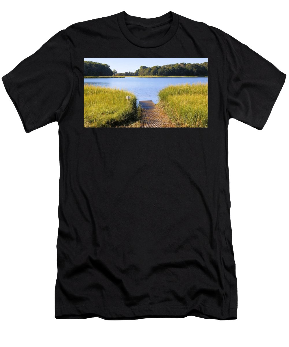Nauset Marsh Men's T-Shirt (Athletic Fit) featuring the photograph Nauset Marsh by Robert McCulloch