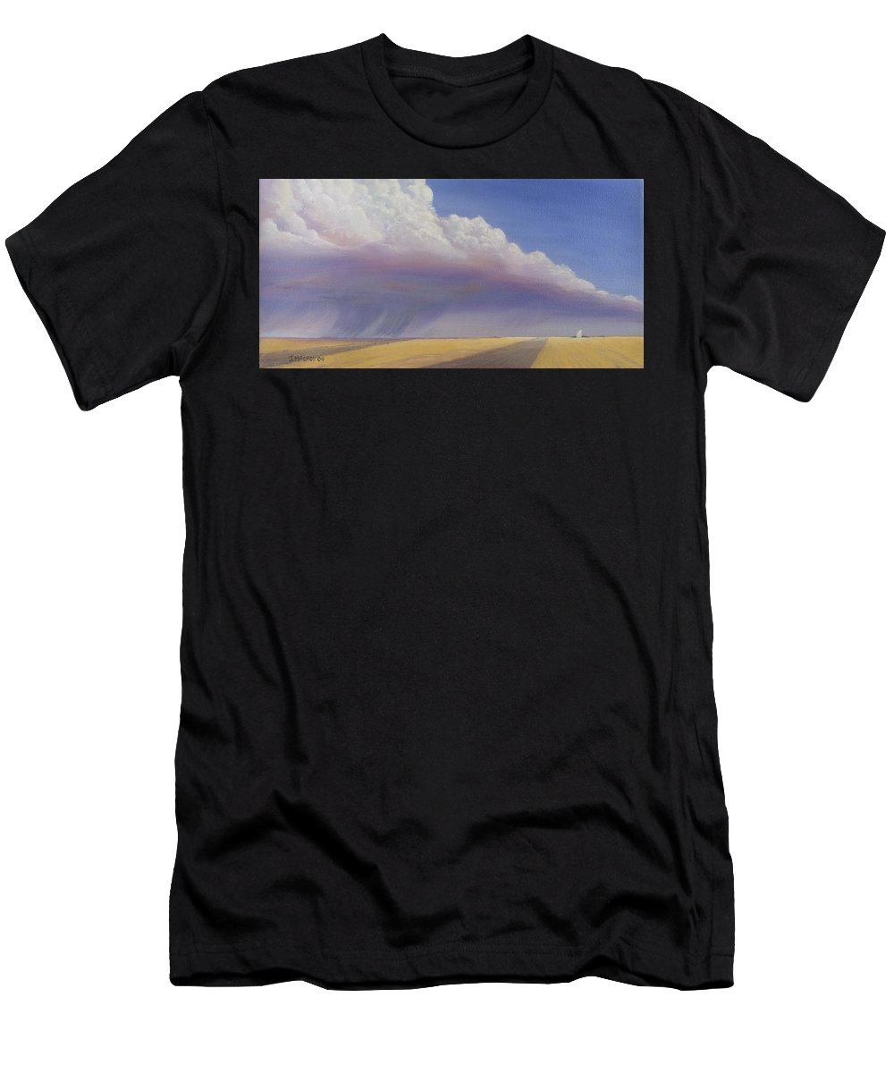 Landscape Men's T-Shirt (Athletic Fit) featuring the painting Nebraska Vista by Jerry McElroy