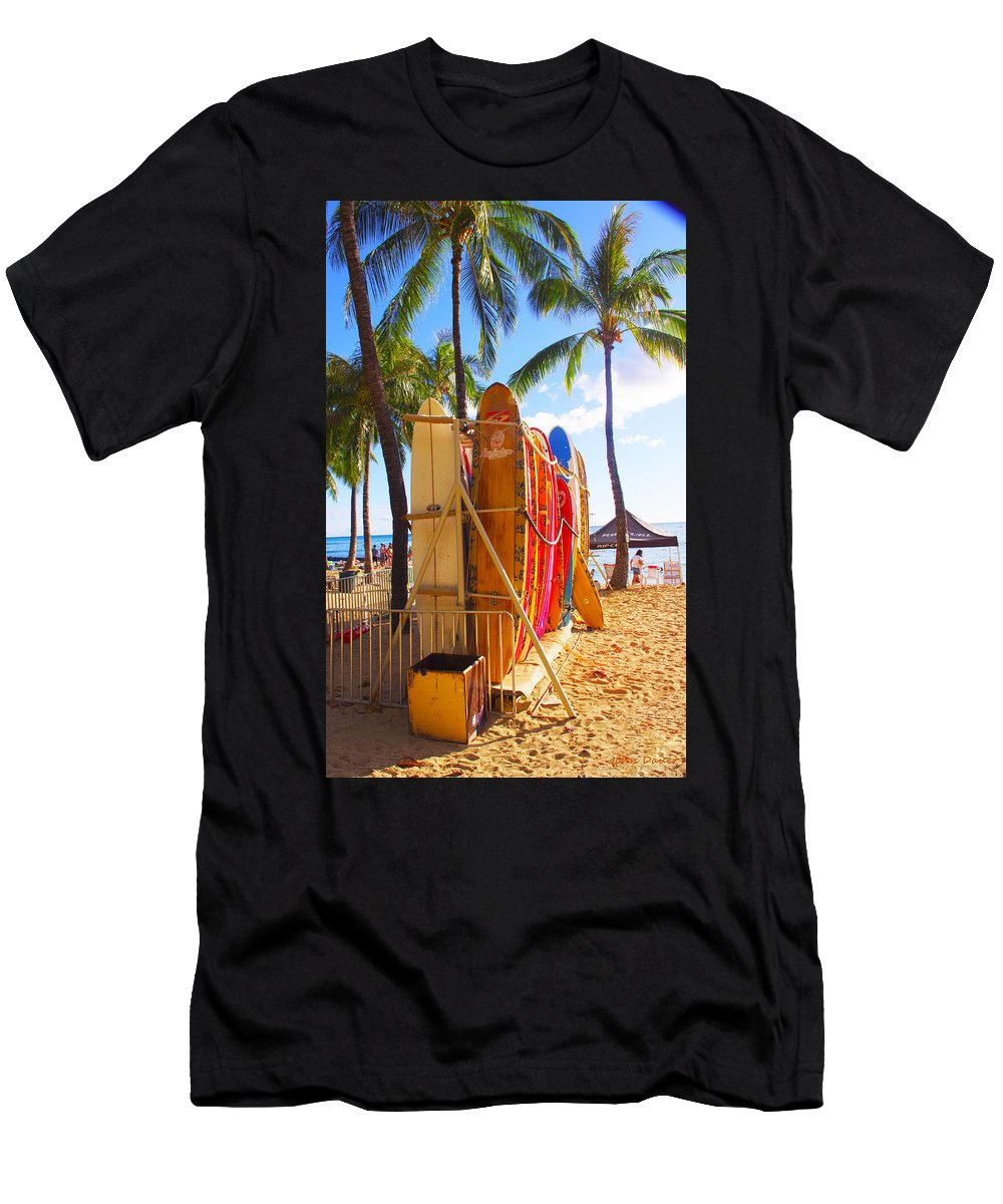 Surfboard Men's T-Shirt (Athletic Fit) featuring the photograph Need A Surfboard by John Dauer