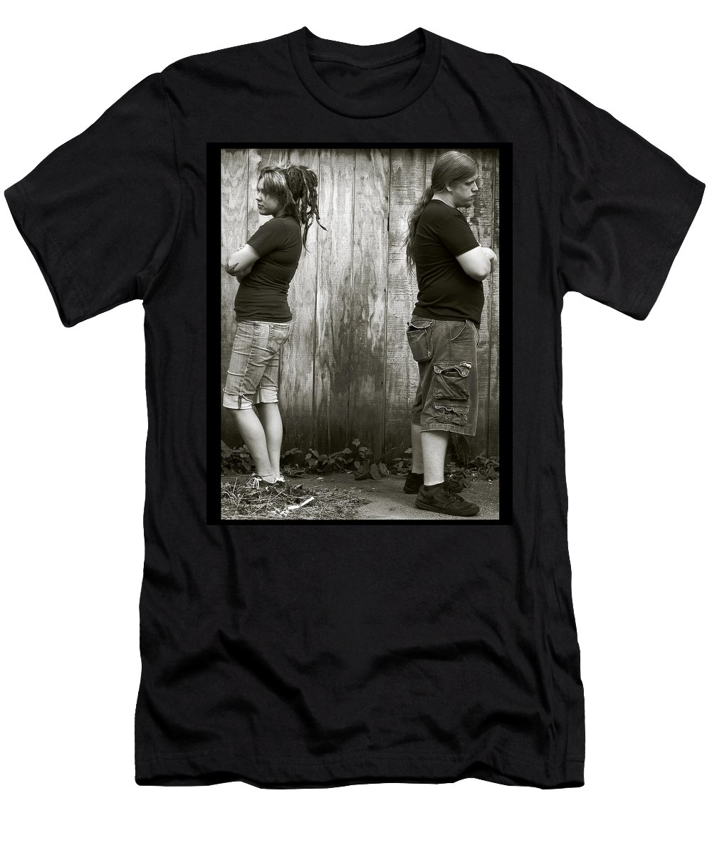 Negative Space Men's T-Shirt (Athletic Fit) featuring the photograph Negative Space by Gene Tatroe