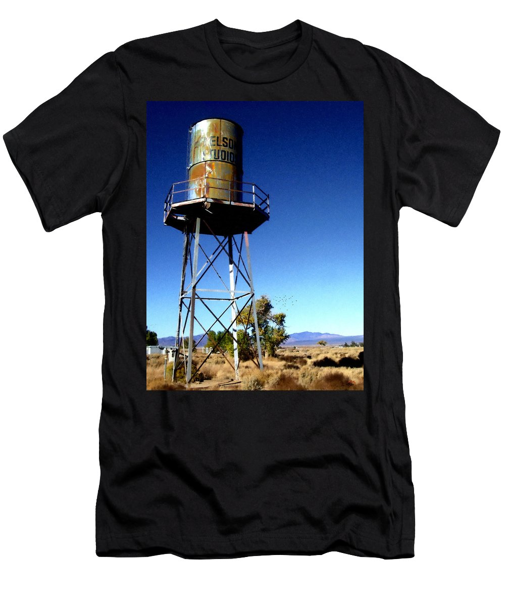 Glenn Mccarthy Men's T-Shirt (Athletic Fit) featuring the photograph Nelson Studio Color - Lucerne Valley by Glenn McCarthy Art and Photography