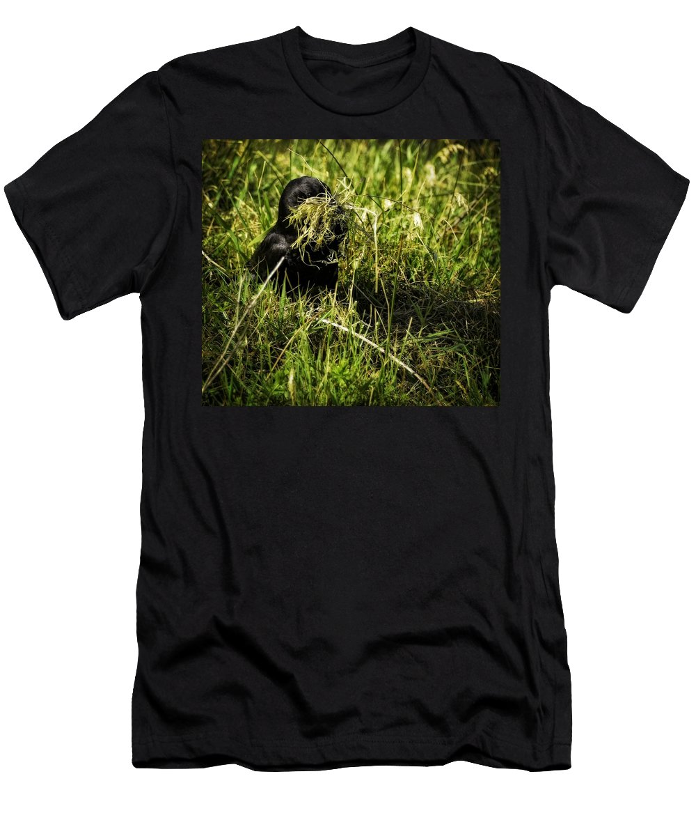 Newport Men's T-Shirt (Athletic Fit) featuring the photograph Nesting Material by Image Takers Photography LLC - Carol Haddon