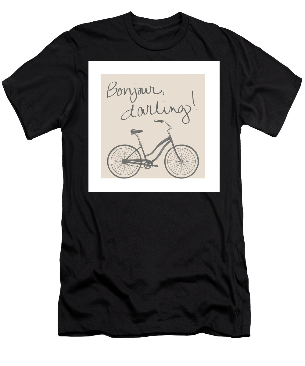 Neutral Men's T-Shirt (Athletic Fit) featuring the mixed media Neutral Glam Bike by South Social Studio