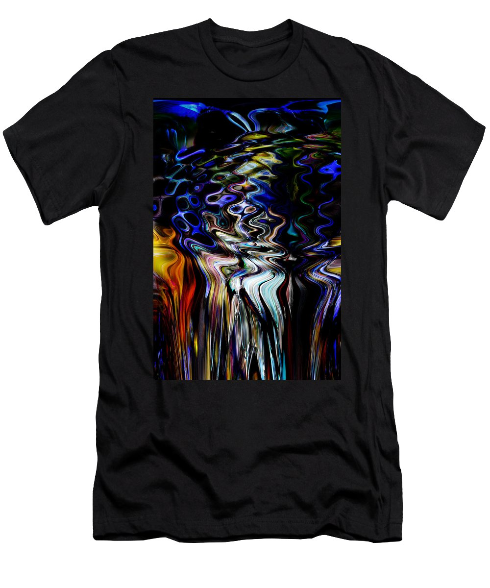 Abstract Men's T-Shirt (Athletic Fit) featuring the digital art Never Cry Over A Half Finished Painting by Richard Thomas