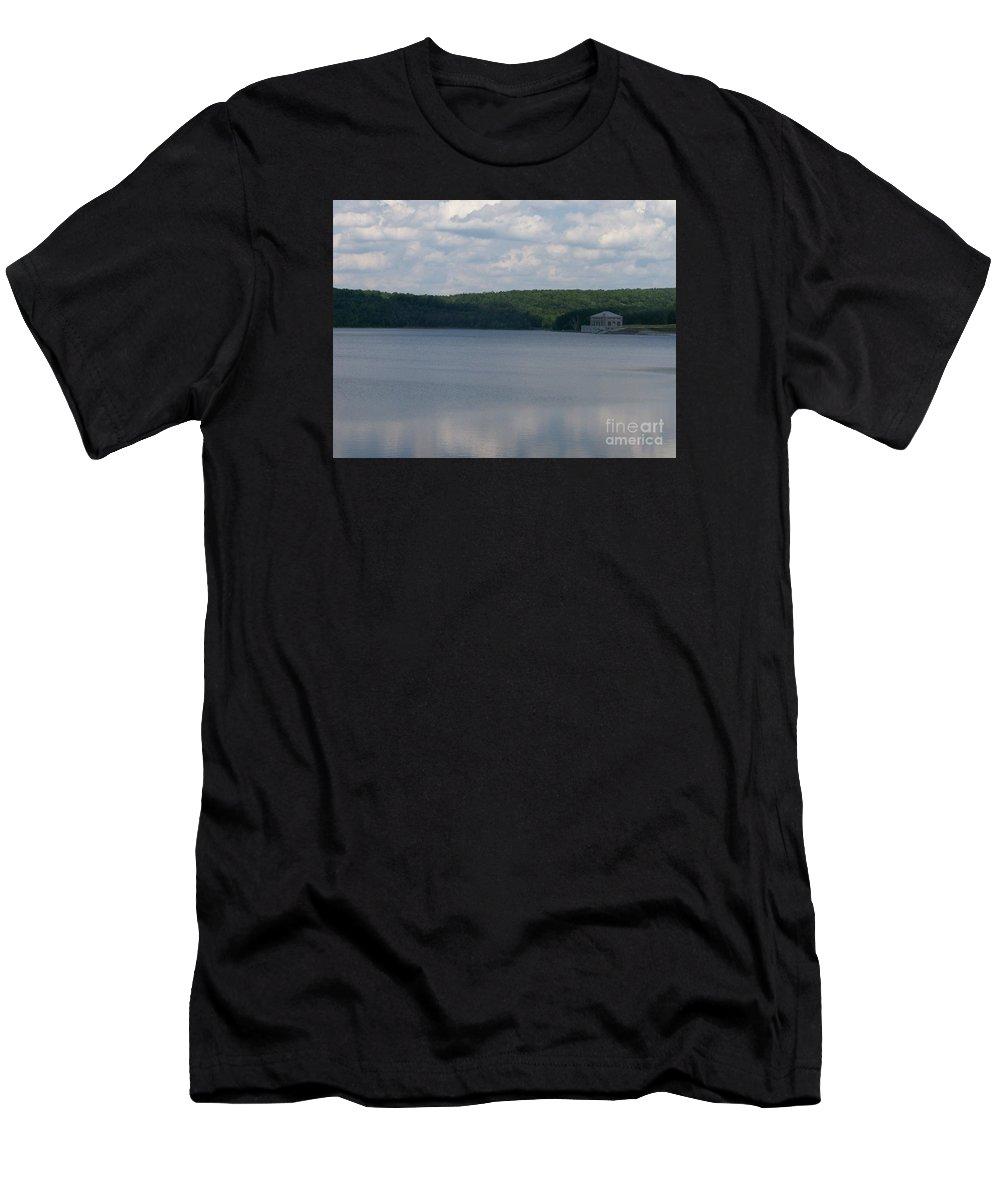 Neversink Reservoir Men's T-Shirt (Athletic Fit) featuring the photograph Neversink Reservoir by Kevin Croitz