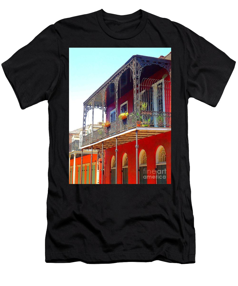 New Orleans Men's T-Shirt (Athletic Fit) featuring the photograph New Orleans French Quarter Architecture 2 by Saundra Myles