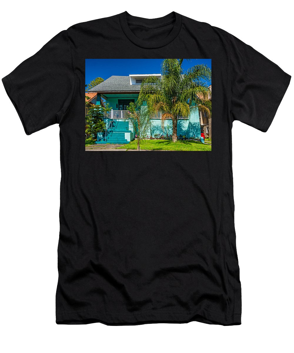 Home Men's T-Shirt (Athletic Fit) featuring the photograph New Orleans Home 7 by Steve Harrington