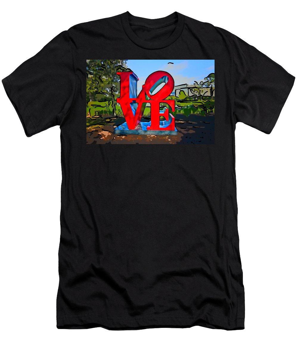 New Orleans Men's T-Shirt (Athletic Fit) featuring the photograph New Orleans Love 3 by Steve Harrington