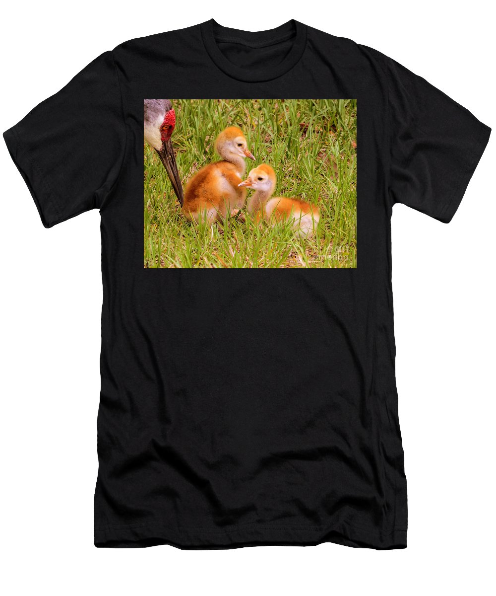 Chicks Men's T-Shirt (Athletic Fit) featuring the photograph New World by Zina Stromberg