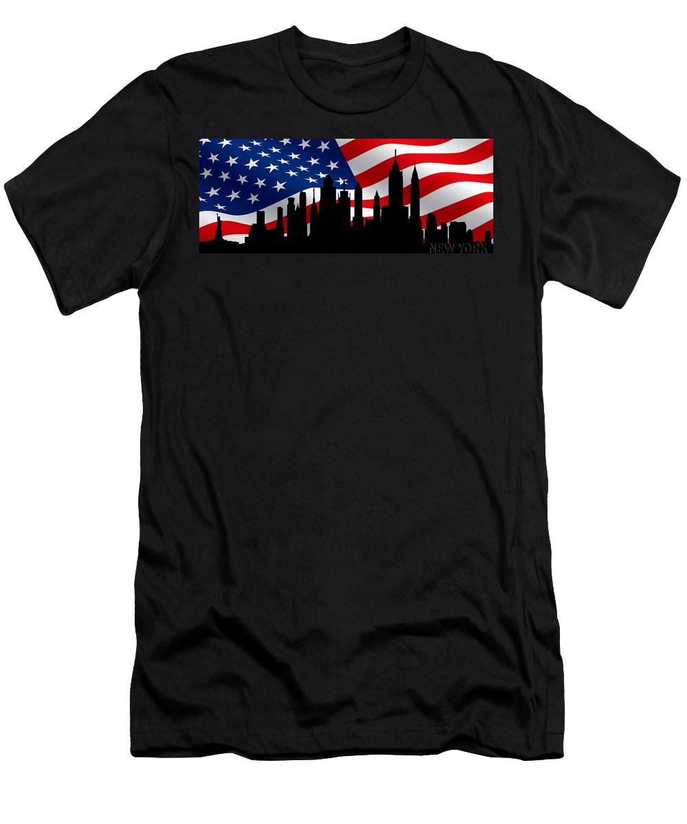 New York Men's T-Shirt (Athletic Fit) featuring the photograph New York Skyline by Andrew Fare