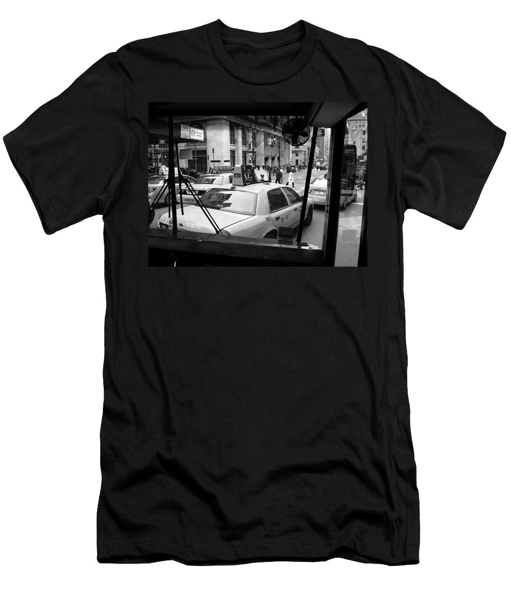 Architecture Men's T-Shirt (Athletic Fit) featuring the photograph New York Street Photography 14 by Frank Romeo